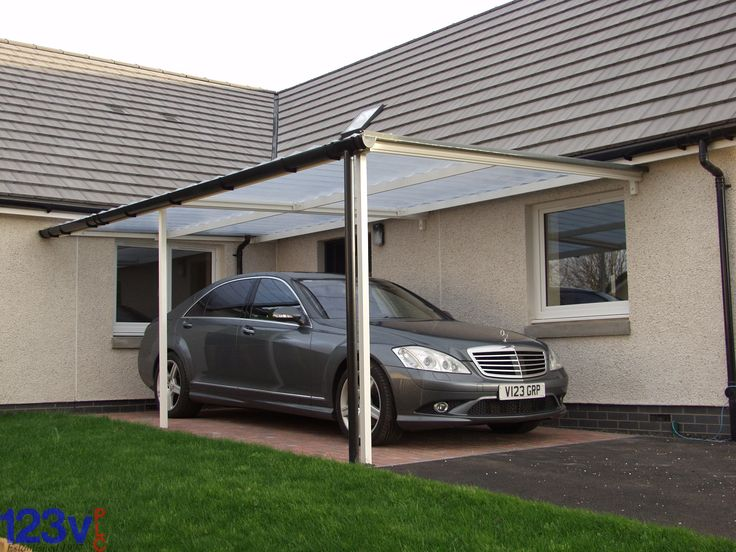 123v Carport Canopy, neat, simple, practical. in & out of the house to the car in the dry. #carport #canopy
