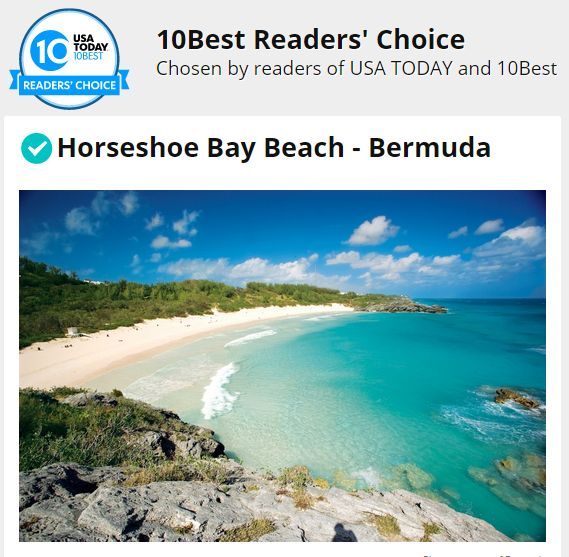 ATTENTION BERMUDA – Vote for Horseshoe Bay Beach With your help Bermuda could win BEST BEACH ! We have been backwards and forwards with Barbados. It's a BEACH FIGHT ! The NATION NEWSPAPER of BARBAD...
