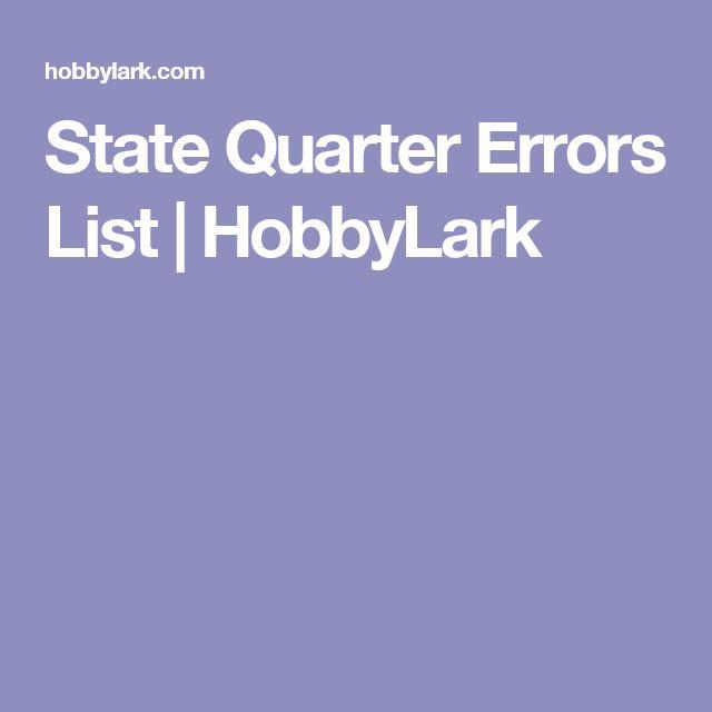 State Quarter Errors List Us Mint Statehood Quarter