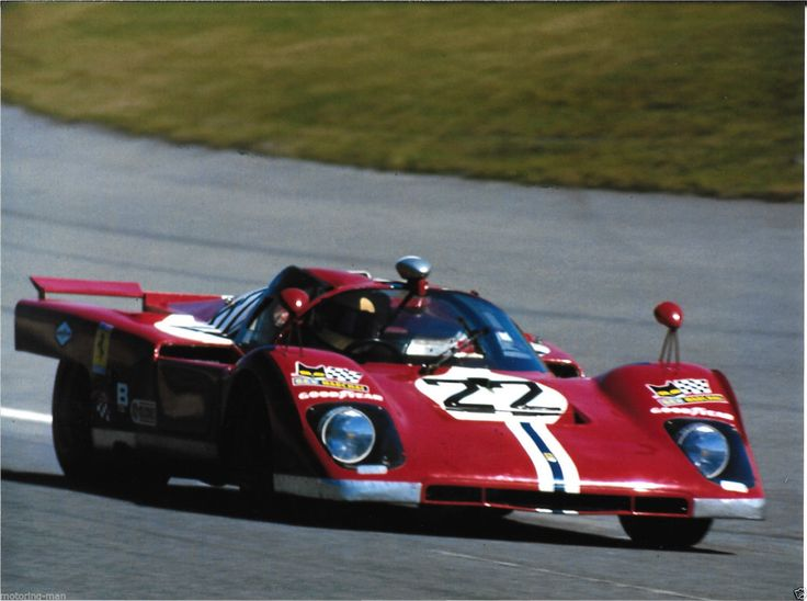 FERRARI 512M SAM POSEY PETER REVSON DAYTONA 24 HOURS 1971 PHOTOGRAPH RARE NART | eBay