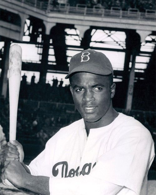 Brooklyn Dodgers JACKIE ROBINSON Glossy 8x10 Photo Print Baseball Poster #BrooklynDodgers