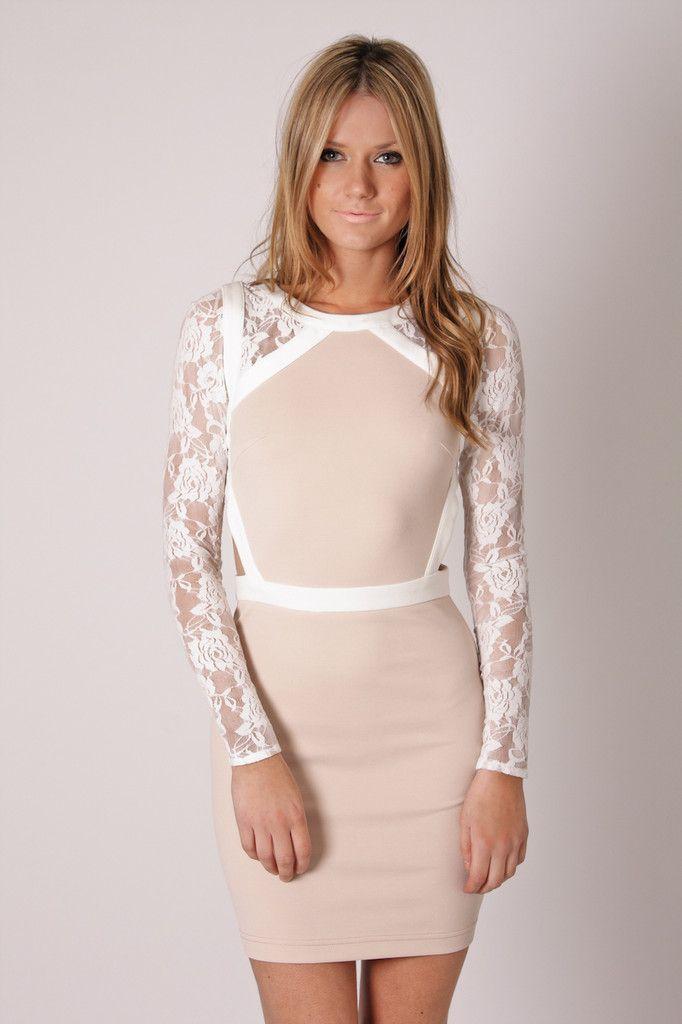 White and Beige Dress #pageantinterview #pageantassociates