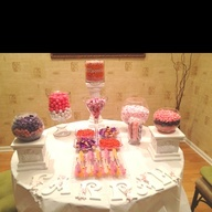 Baby Shower Candy Station: Shower Ideas, Candy Bars, Candy Stations, Amanda S Baby, Amy S Baby, Shower Reception Ideas, Baby Shower Candy