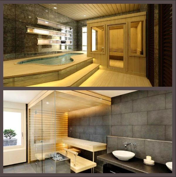 in home sauna home ideas pinterest home pools and saunas. Black Bedroom Furniture Sets. Home Design Ideas