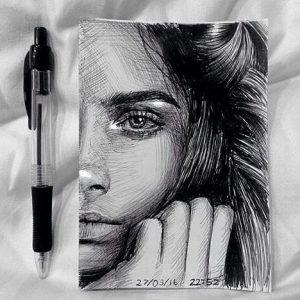 49+ Best of Amazing Face Drawings (Die +49 besten Bilder von Zeichnungen Gesicht…