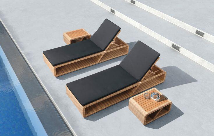 Leżaki, siedziska, leżanki : Palace - meble ogrodowe z technorattanu leżak ogrodowy - Twoja Siesta