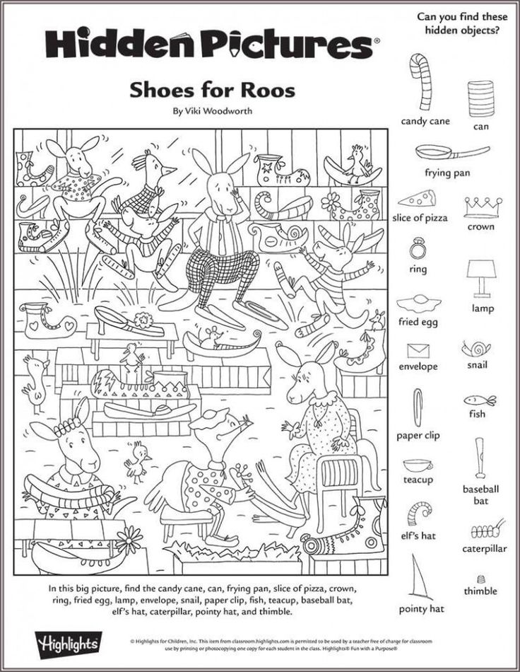 Shoes for Roos Hidden Pictures Puzzle …