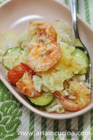 Blog di cucina di Aria: Taieddhra riso, patate, zucchine e gamberi