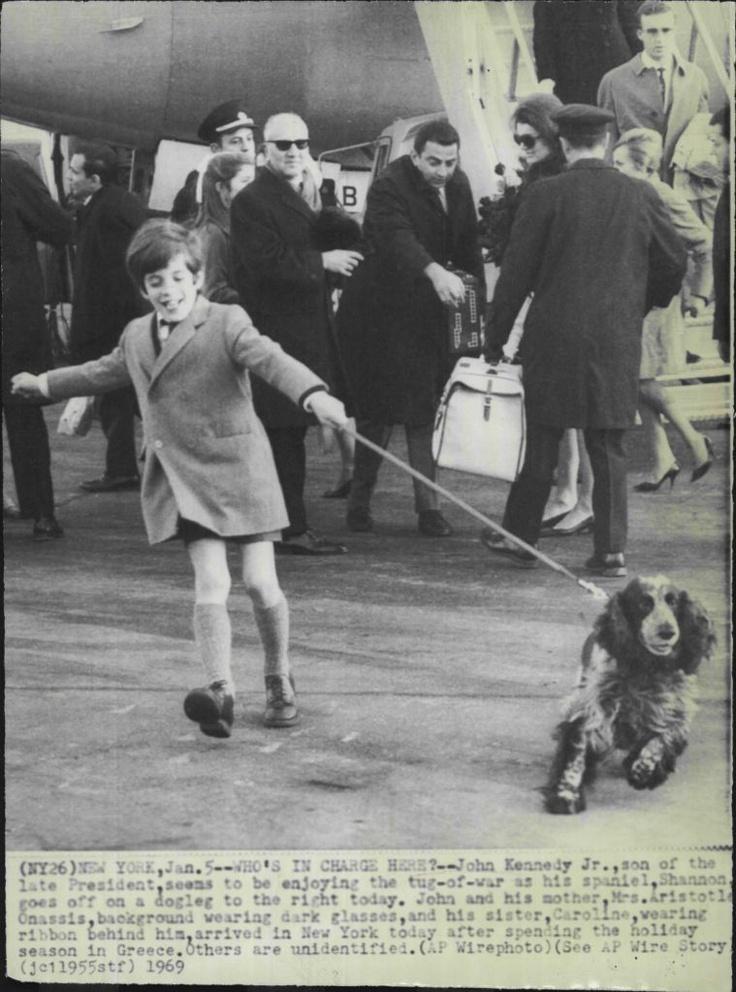 "1969 John F Kennedy Jr Enjoying His Spaniel ""Shannon"" Press Photo | eBay"