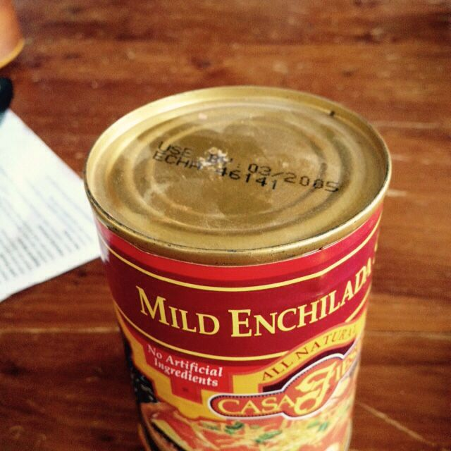 So, I've got this enchilada sauce in my pantry from 2005, nearly 11 years old. I might open it soon.