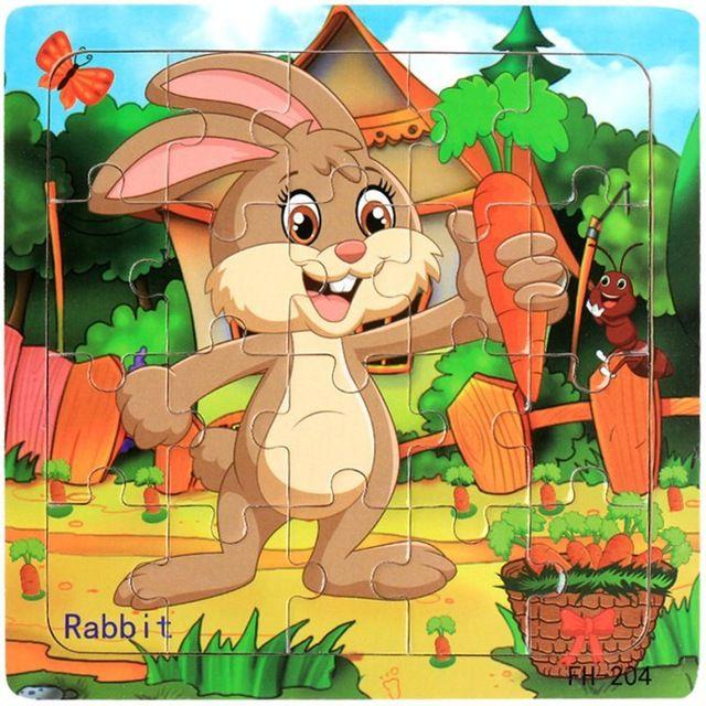 Juguete de madera del rompecabezas Educativos Del Desarrollo Del Bebé Niños juguetes para niños rompecabezas de animales Rompecabezas de Formación Jouet Enfant #520