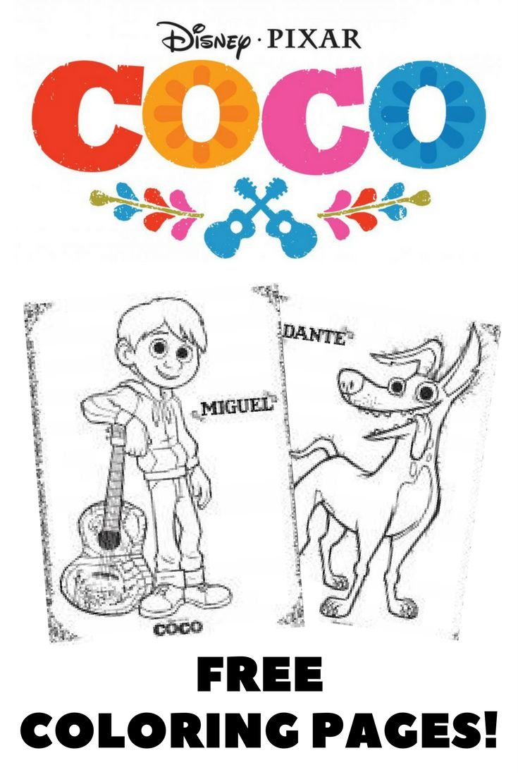 Disney's Coco coloring pages! Print and color these fun coloring pages and activity sheets from the movie Coco. #Coco #coloringpages #kidsactivities #DIsney