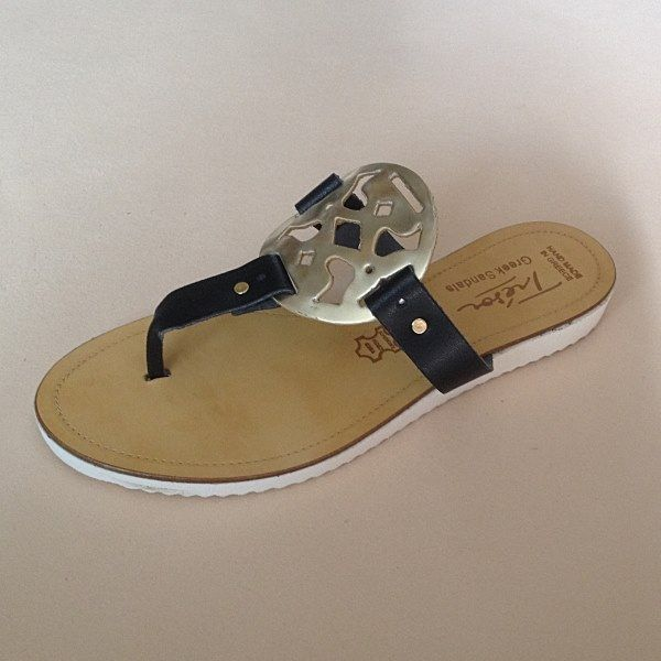 Greek Sandals (Δερμάτινα :: Πέδιλα, Σαγιονάρες, Παντόφλες) @ www.GreekShoes.Net > Κωδικός: 260.507 > Μεγέθη: Νο.35-Νο.41 (τιμή 30€) & Νο.42-Νο.45 (τιμή 40€) > Σόλα: Σφήνα ή Φλάτ | Λευκή ή Μπέζ > Χρώματα: Μαύρο-Χρυσό, Ταμπά-Χρυσό, Λευκό-Χρυσό