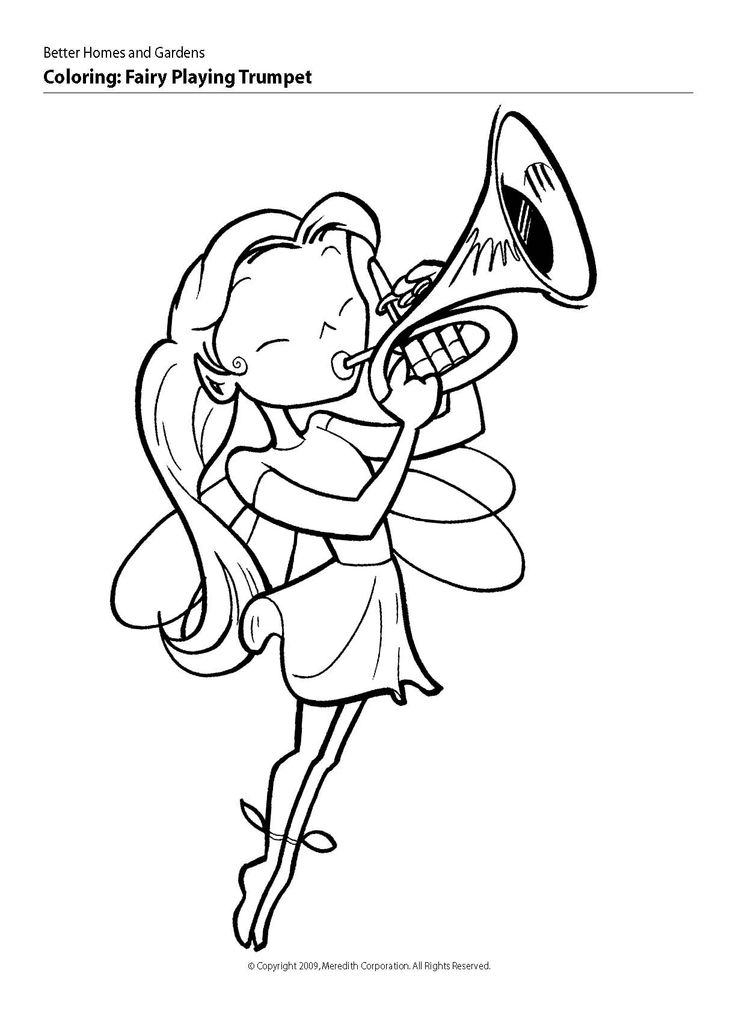 coloring pages of trumpets - photo#16