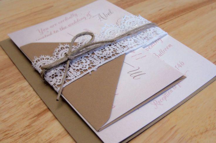 Meghan & Guy's Rustic Southern Wedding Invitations : Kxo Design | Custom Wedding Invitations, Modern Wedding Invitations, Custom Stationery