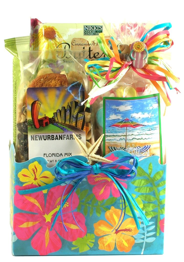 78 best vacation gift basket images on pinterest vacation gift beach basket ideas florida gift basket with florida theme gourmet goodness negle Image collections