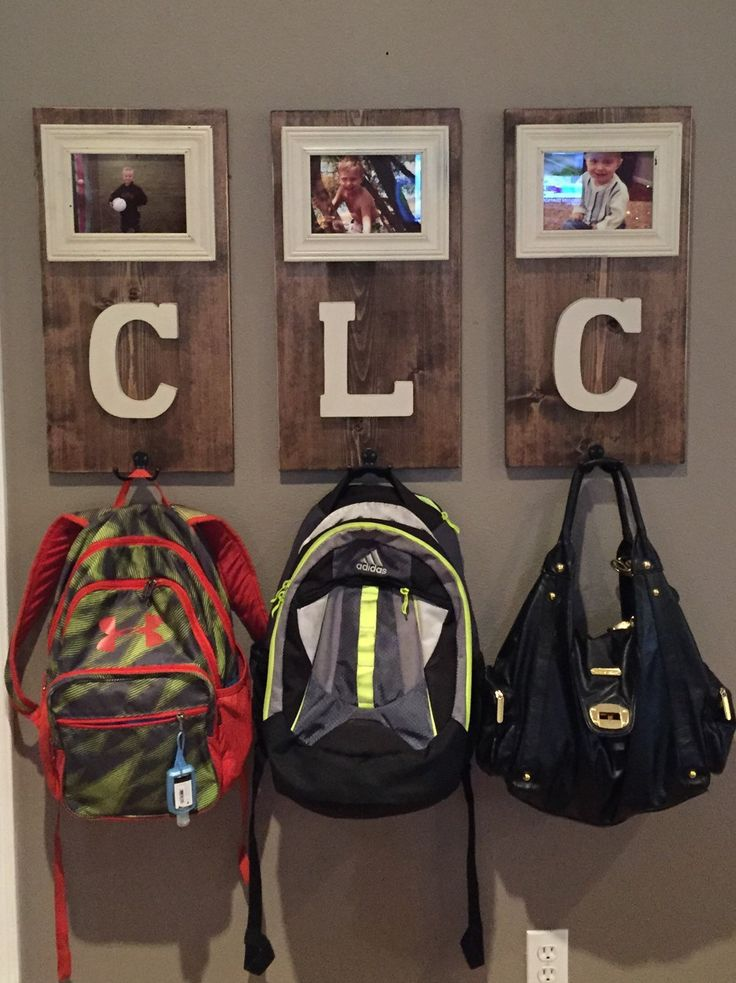 Personalize coat and/or backpack hooks by rachellehicksdesigns