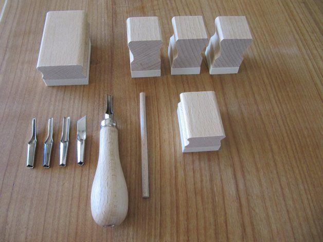 Stempel - DIY Kit für 5 Stempel mit Werkzeug - Starterset - ein Designerstück von MargareteF bei DaWanda