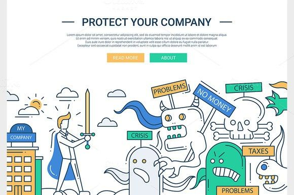 Protect Your Company Website Header. $5.00
