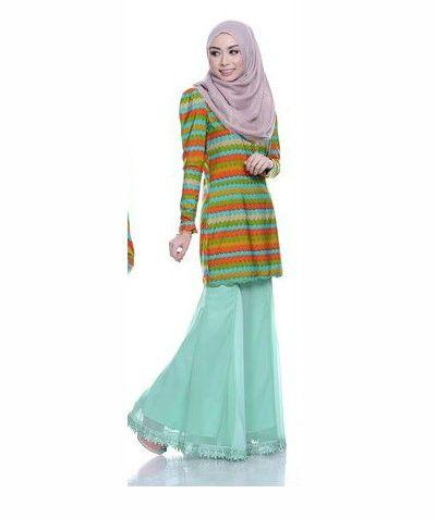 Muslimah fashion - Kurung Medina Hijau Pudina  More sweet color option available in website