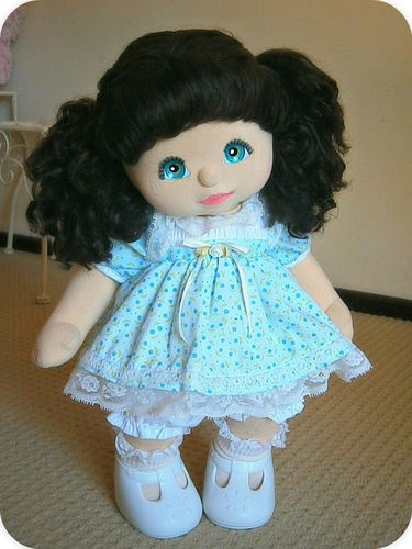 Stunning Brunette Aussie My Child Doll Ringlet Pony