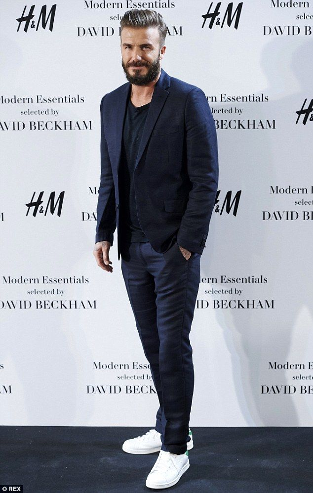 Helping hand: David Beckham has admitted he lets his wife dress him '99 per cent' of the t...