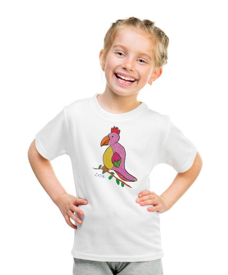 Parrot T-shirt with autograph