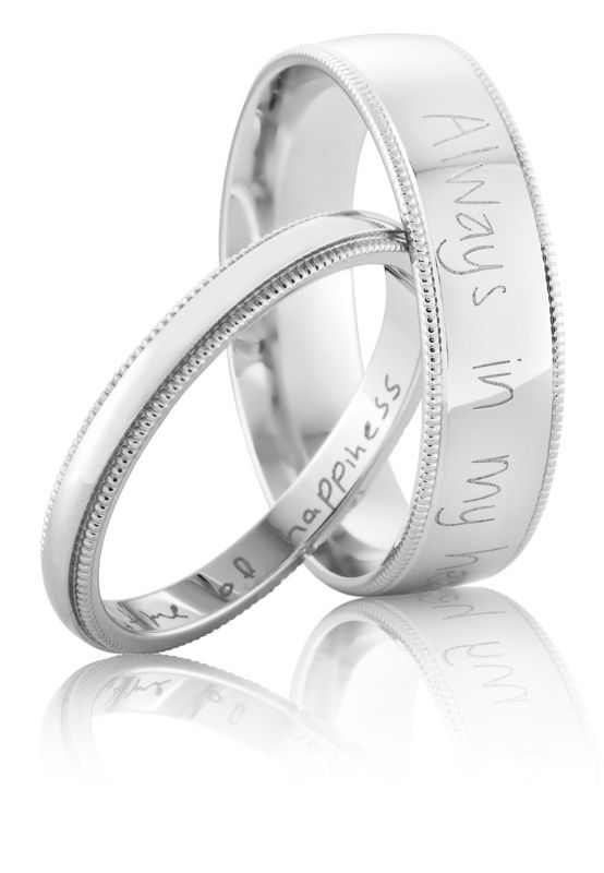 Laser Engraved - HANDWRITING - Sterling Silver or 9ct Gold