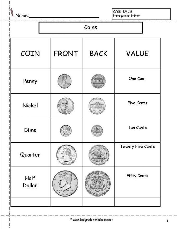 10+ Coin Value Worksheets 2Nd Grade