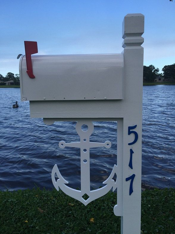 LARGE Decorative Anchor Bracket for Mailbox, Porch, Entry Coastal Beach Lake Home by SimplyBurtons on Etsy
