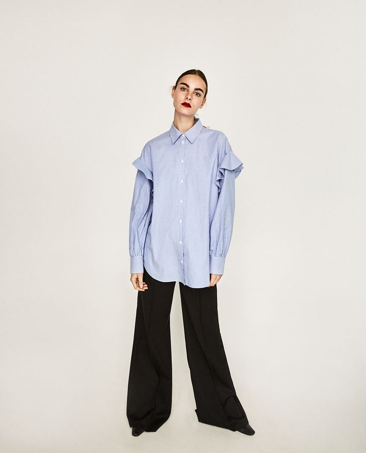 FRILLED SHIRT-View All-TOPS-WOMAN-COLLECTION SS/17   ZARA United Kingdom