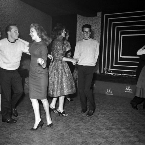 Buddy Holly On The Dancefloor During His Uk Tour 1958