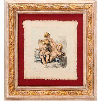 ... Cuadros, estampas y manuscritos iluminados >Ángeles pintados sobre