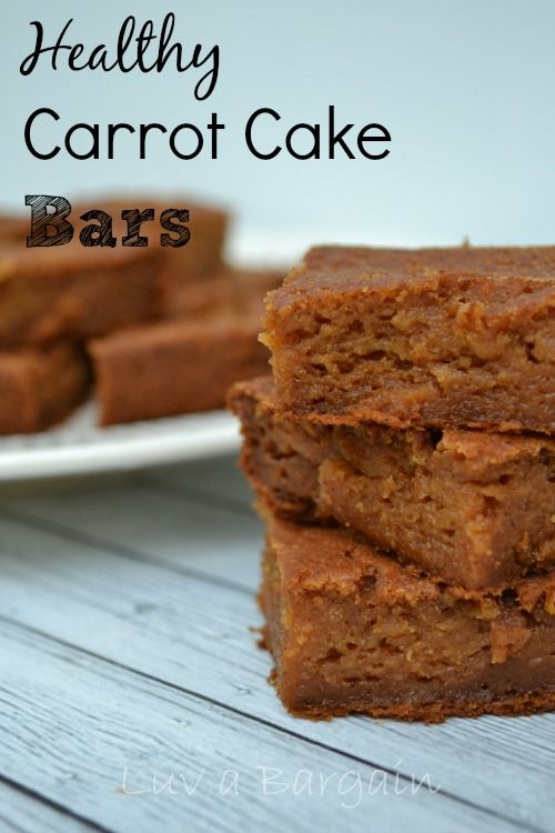 Healthy Carrot Cake Bars - Clean Eating Recipe. Love these as one of my snack options