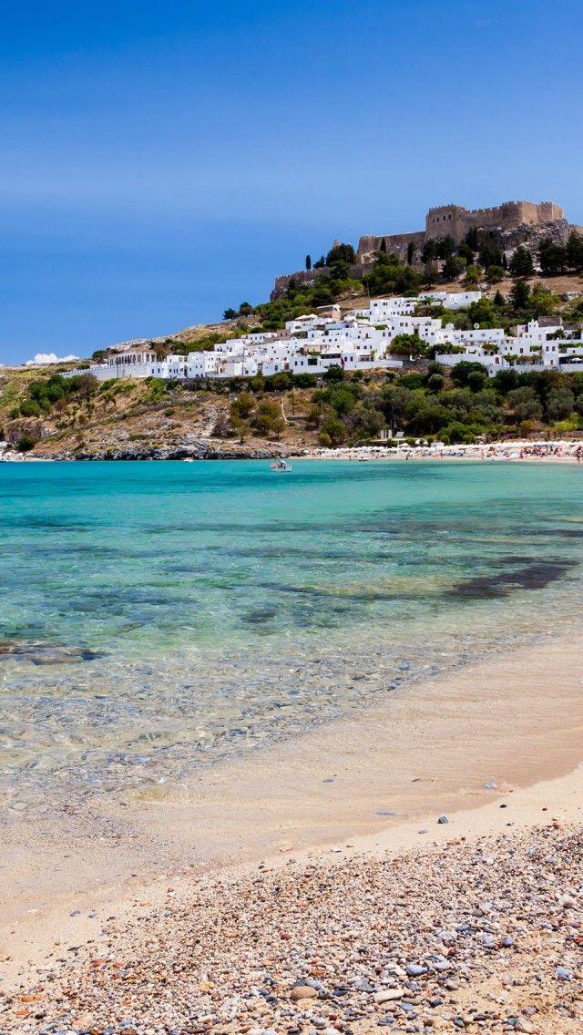 Lindos Beach, Rhodes, Greece. Where we stayed in Rhodes.