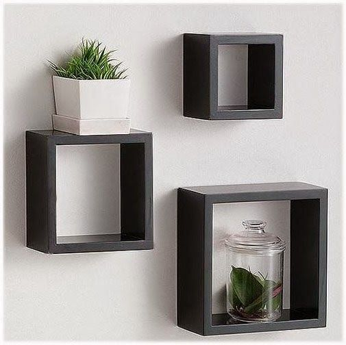 ini adalah set rak dinding kubus melayang yang cocok buat ruangan anda.