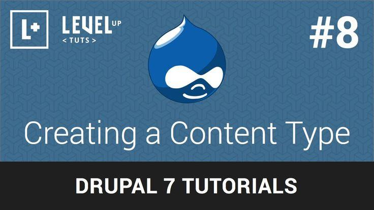 Drupal Tutorials #8 - Creating a Content Type