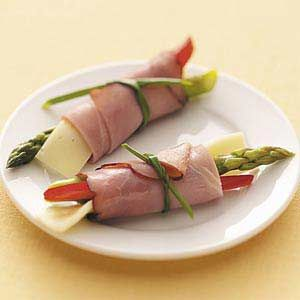 Asparagus Ham Roll-Ups - 2 g carbohydrate per roll