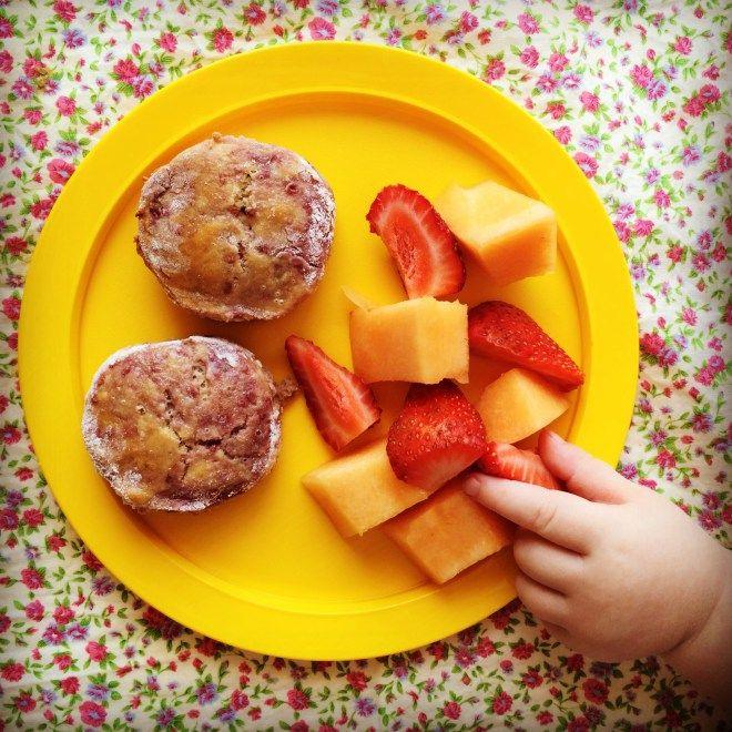 raspberry & almond scones
