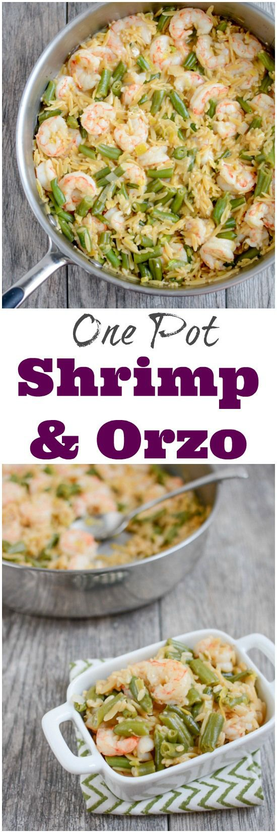 All you need is one pan and 20 minutes to make this quick and easy One Pot Shrimp and Orzo dinner recipe. It's full of flavor and cleanup is a breeze!