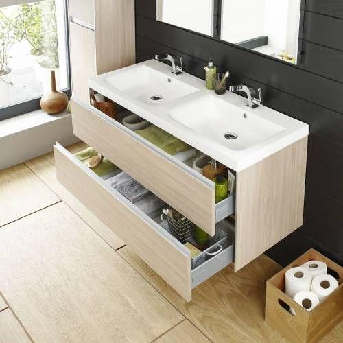 25 best ideas about double vasque on pinterest - Dimension meuble double vasque ...