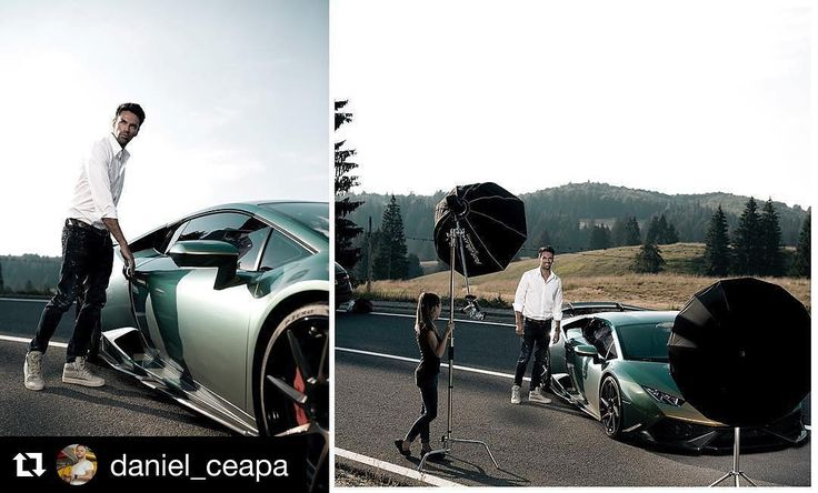 Behind the scenes by @daniel_ceapa : another image from my last shooting . . . . #lifestyle #attitude #malemodel #lamborghini #huracan #supercar #street #streetstyle #lights #creative #lifestyle #fashionphotographer #magazine #portrait