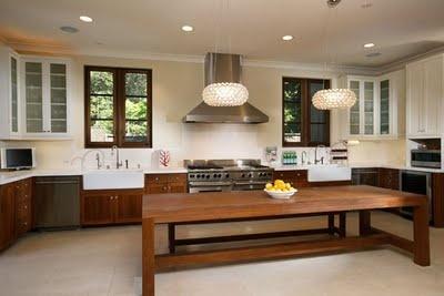 Long kitchen island kitchen pinterest long kitchen for Long kitchen island