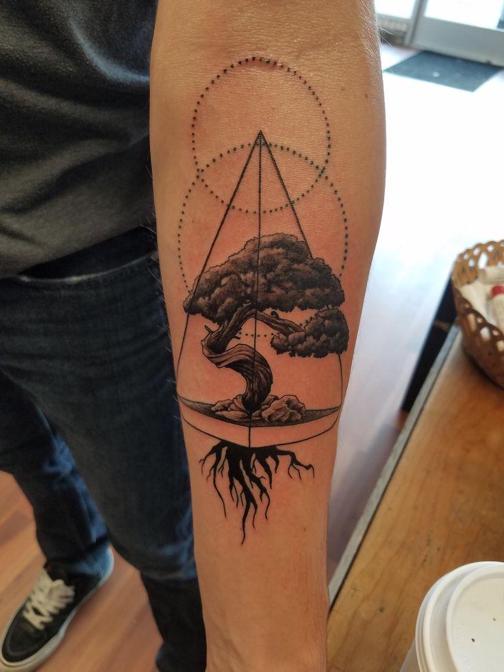 Bonsai tree, by Duke at Art & Soul Tattoo, Middleton WI - Imgur