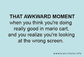 always happens to me! It never fails :)Time, Funny Halo, Awkward Moments, Mario Kart, Videos Games, Mario Carts, So True, Halo Funny, True Stories
