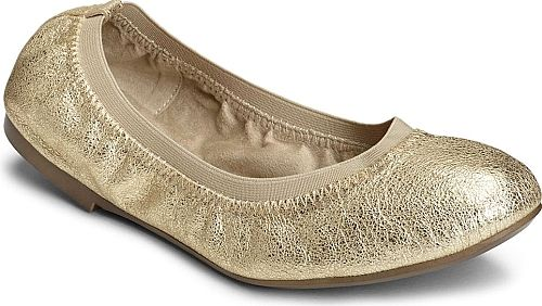 Aerosoles Women's Shoes in Champagne Color. So bendy you could practically fold this chic ballet flat into your purse!. Suede or leather upper with elastic topline. Comfort foam footbed and sumptuous padded insole. Diamond-flex outsole disperses friction away from the foot