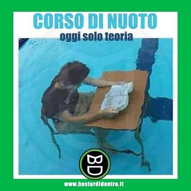 Tutti concordano sul fatto che la pratica sia meglio della teoria! #bastardidentro #nuoto #corso… www.bastardidentro.it
