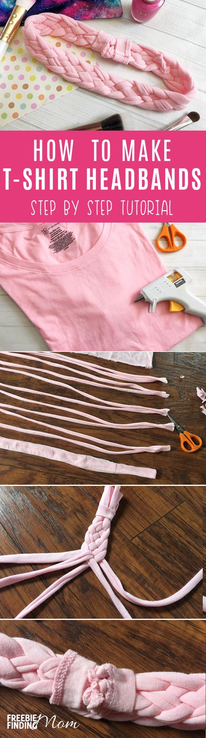 How would you like to transform old T-shirts into chic homemade hair accessories? In minutes, you can make these adorable homemade headbands for kids or adults by following this easy no-sew tutorial. Have fun changing up the colors and embellishments to match your outfit perfectly.