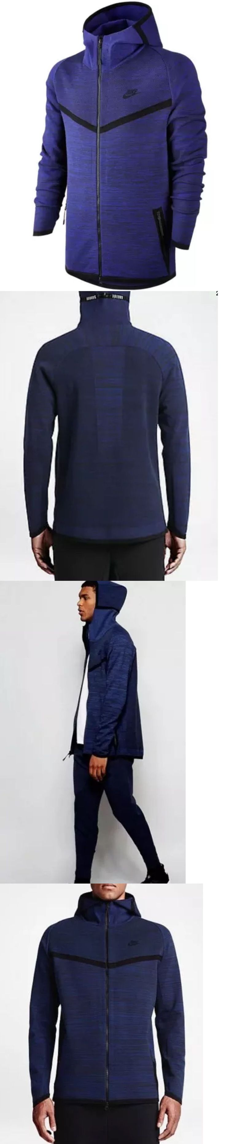 Men Athletics: Nike $250 Mens Tech Knit Windrunner Hoodie Jacket - Blue/Black (728685 451) Xl -> BUY IT NOW ONLY: $99.95 on eBay!