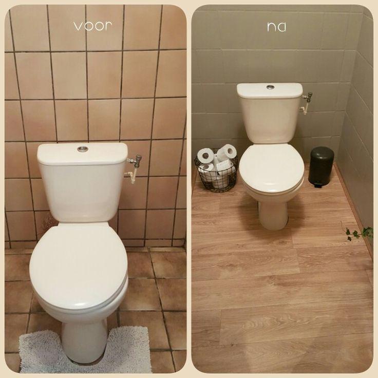 17 beste idee n over vinyl tegels op pinterest keuken vloeren - Verf wc ...